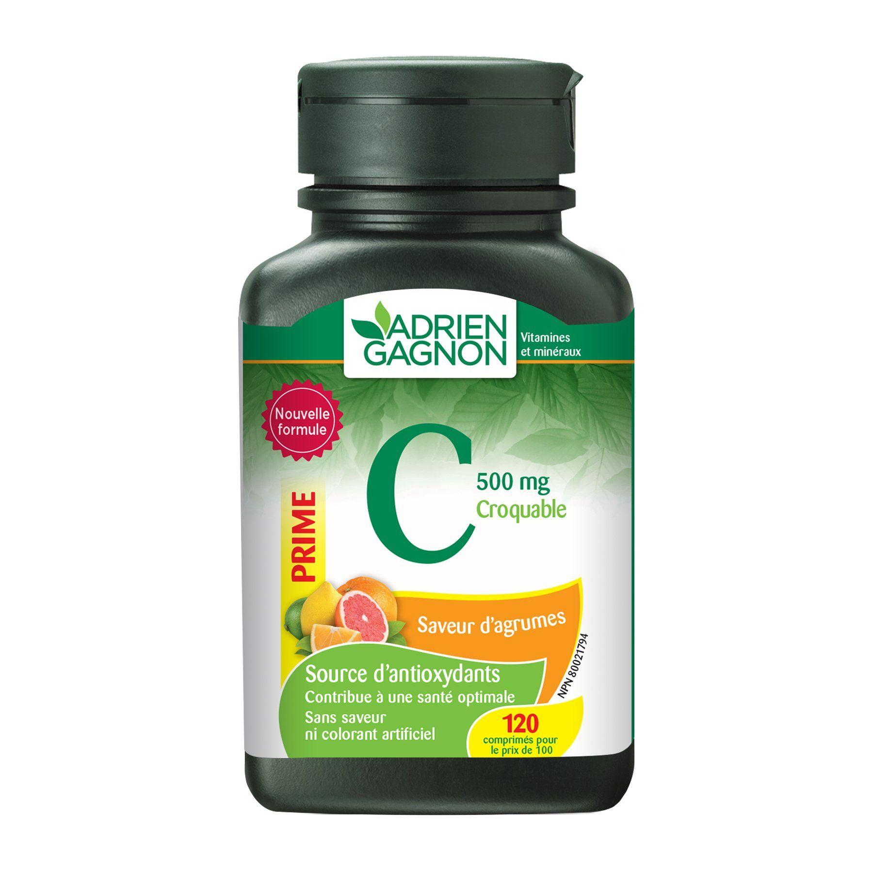 Adrien Gagnon Vitamin C 500 mg Natural NonGMO Immune