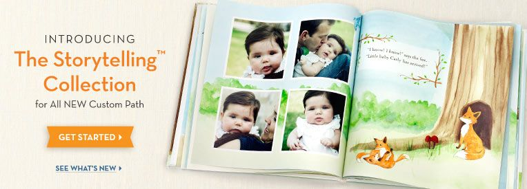 love the woodland baby photo book idea | Baby photo books
