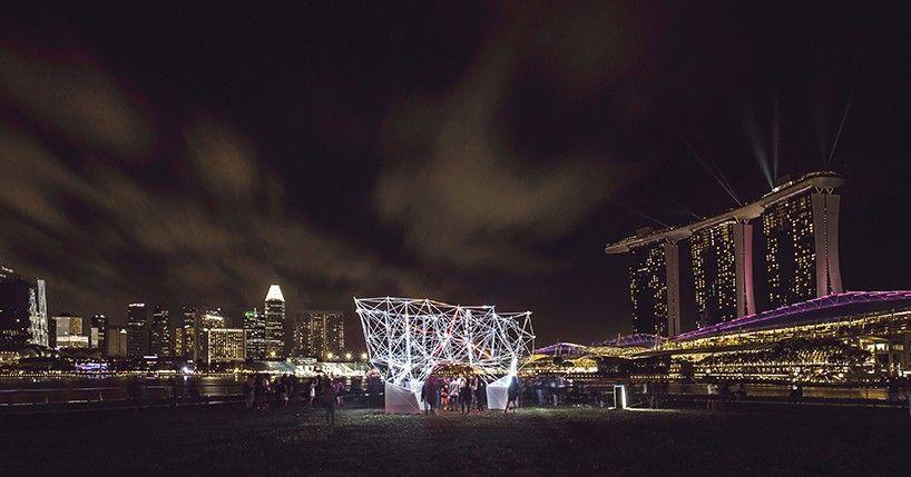 (ultra) light network installation by felix raspall and carlos banon #lightartinstallation