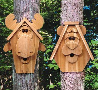Birdhouse Wood Patterns Moose & Bear Birdhouse Wood Plan