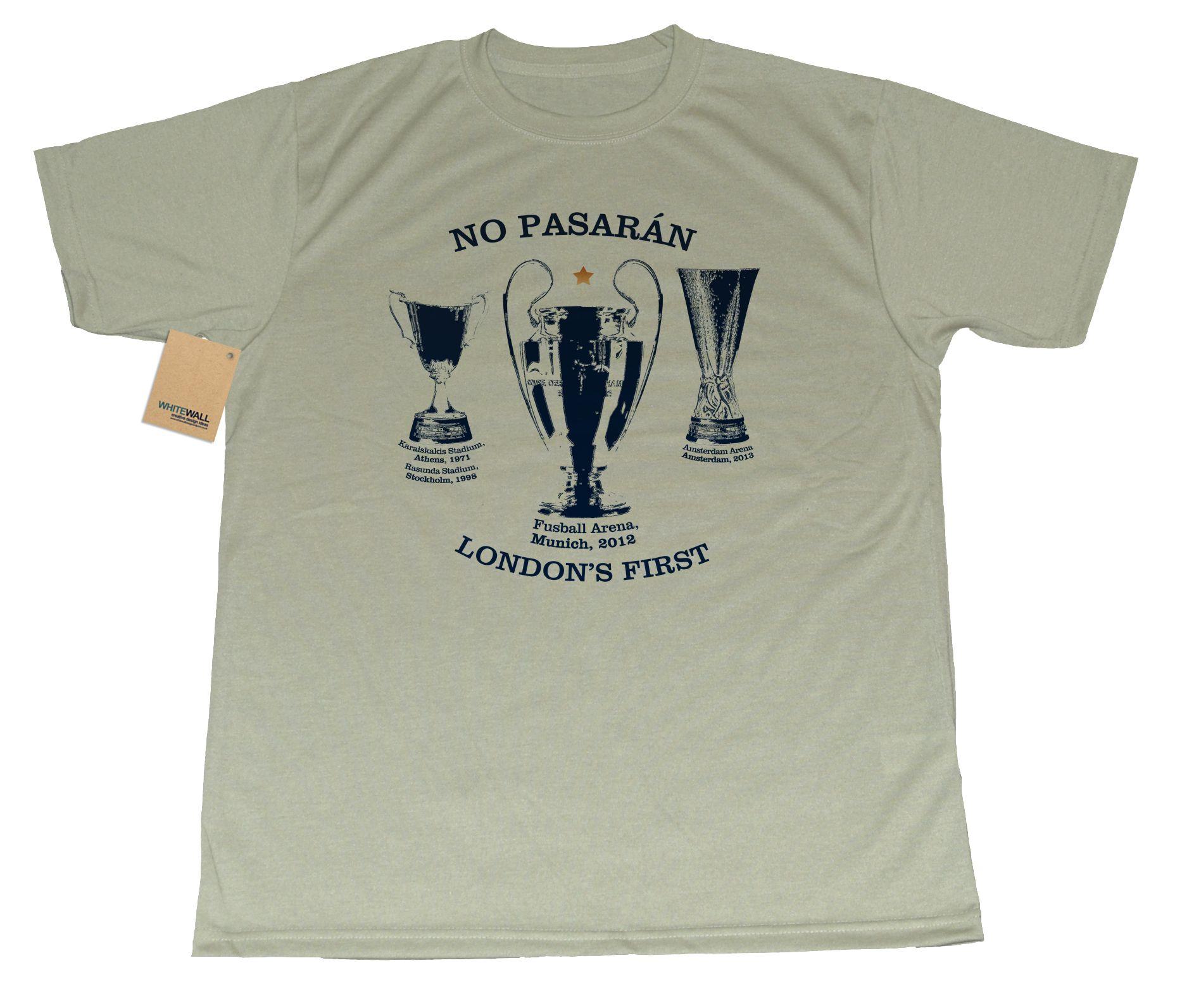 european trophies no pasaran they shall not pass t shirt