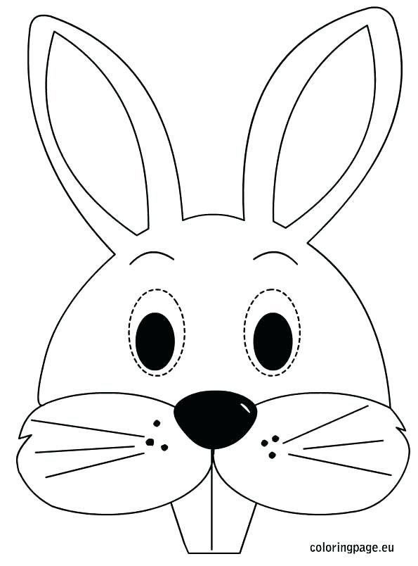 bunny head with ears coloring page  google search in 2020