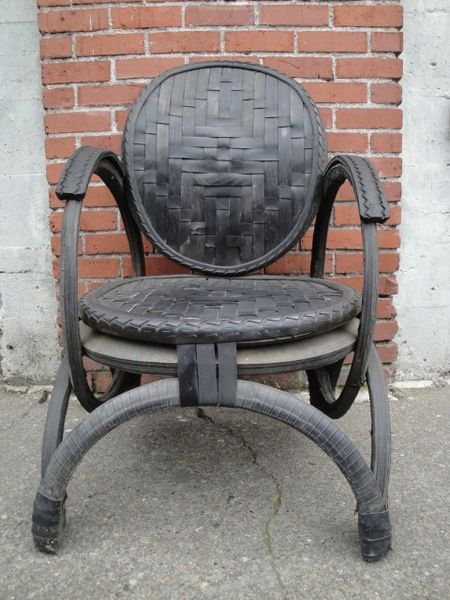 Tyre rubber chair looks quite comfortable | Recycled Tyre ...