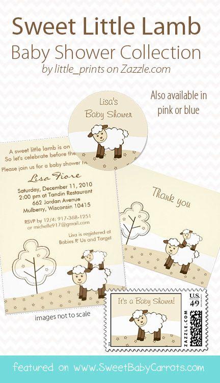 cute little lamb baby shower invitations cute pink sheep baby, Baby shower invitations
