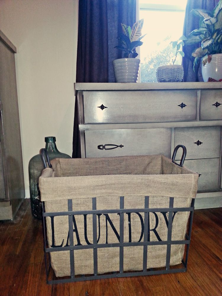 New Industrial Laundry Basket From Marshalls Storage Home Decor