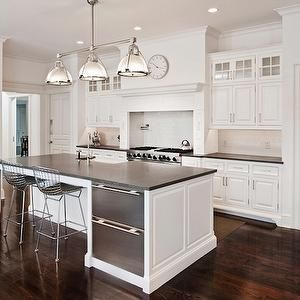 pricey pads kitchens white kitchen cabinets gray honed