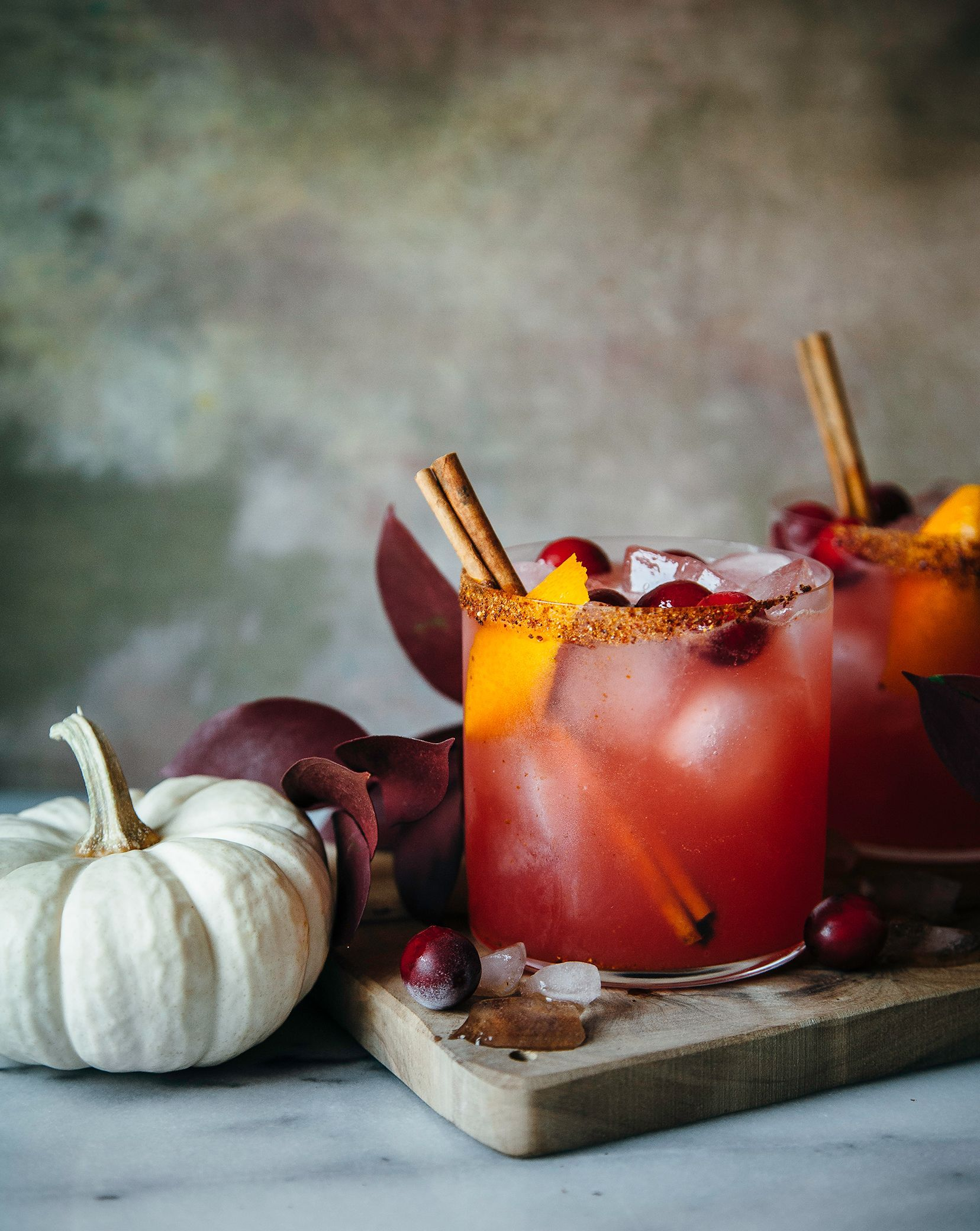 These spiced cranberry orange margaritas are refreshing, subtly spiced, and perfect for slow sipping during the holidays (or any time!).