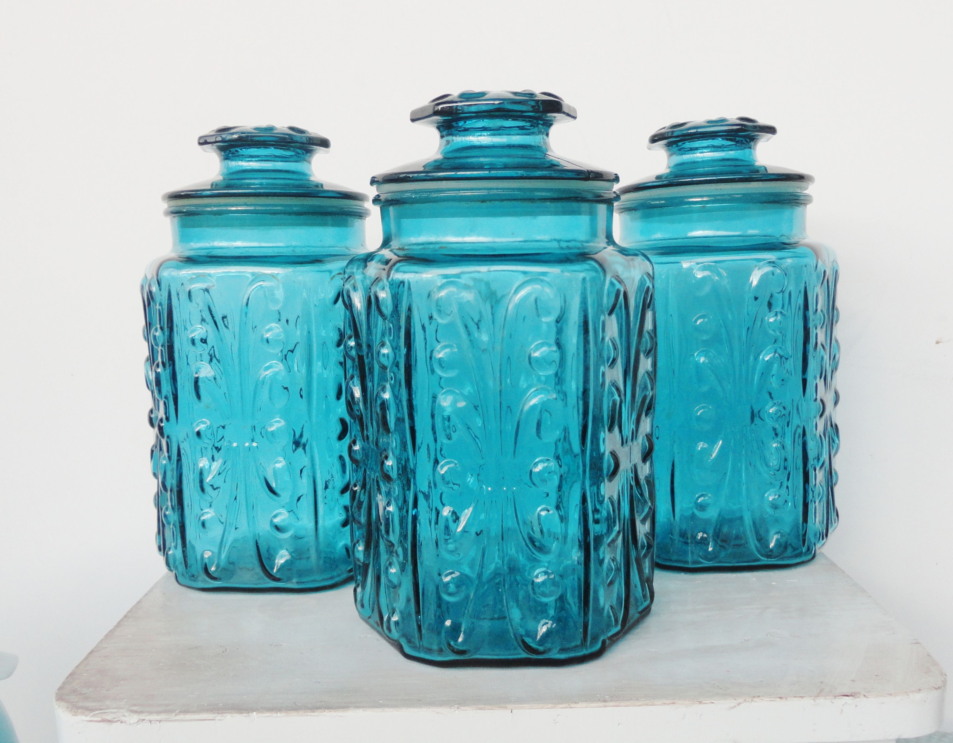 100 blue kitchen canisters mason jar canisters color glass