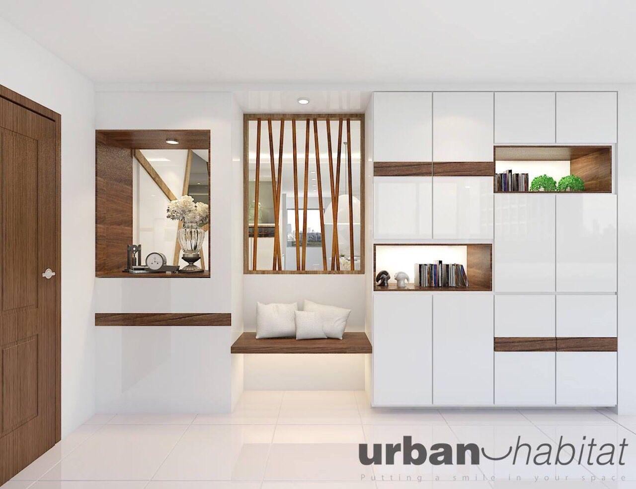 Clean woody shoe Modern room, Interior design