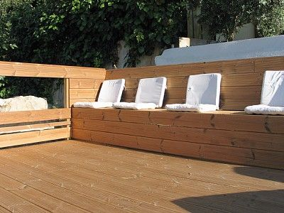 terrasse avec banc int gr home ext rieur pour mon petit jardin pinterest. Black Bedroom Furniture Sets. Home Design Ideas