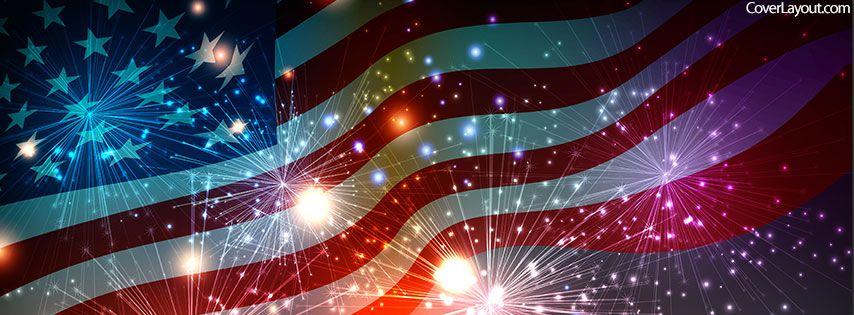 Usa Flag Fire Works Facebook Cover Cover Pics For Facebook Facebook Cover Images Facebook Cover Photos
