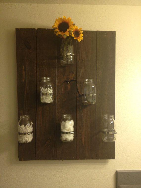 Mason Jar Home Organizer by AZCountryCorner on Etsy, $40.00