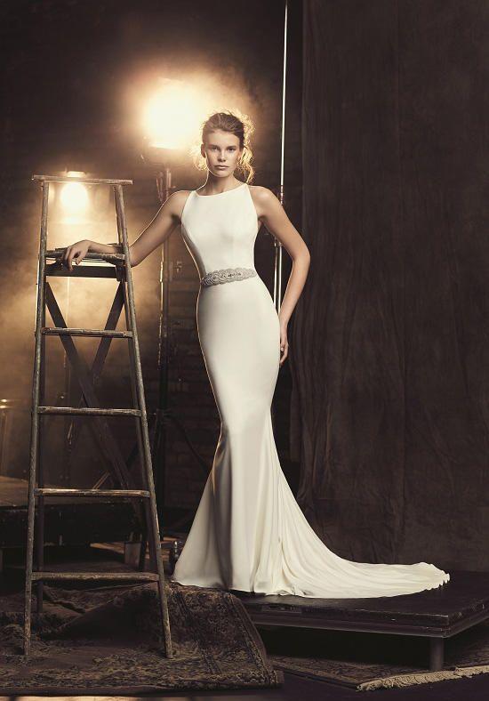 Mikaella 2090 Wedding Dress - The KnotCrêpe Wedding Dress. Crêpe ...