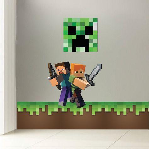 Minecraft Grass Wall Decal