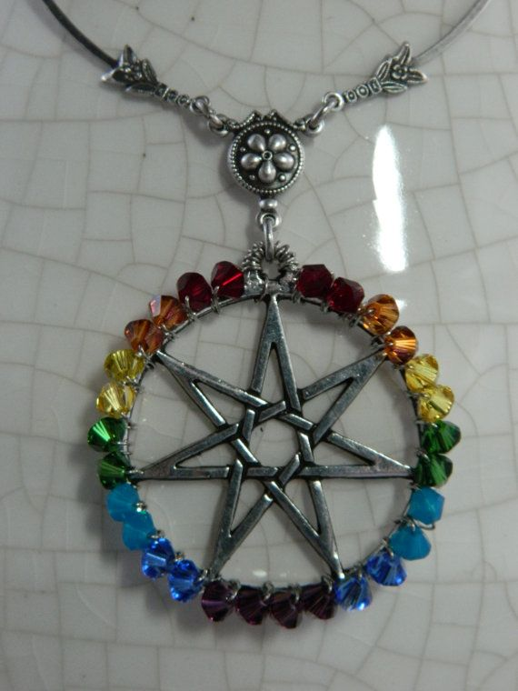 Chakra fairy star elven star heptagram chakra swarovski crystal chakra fairy star elven star heptagram chakra swarovski crystal necklace by crow aloadofball Choice Image