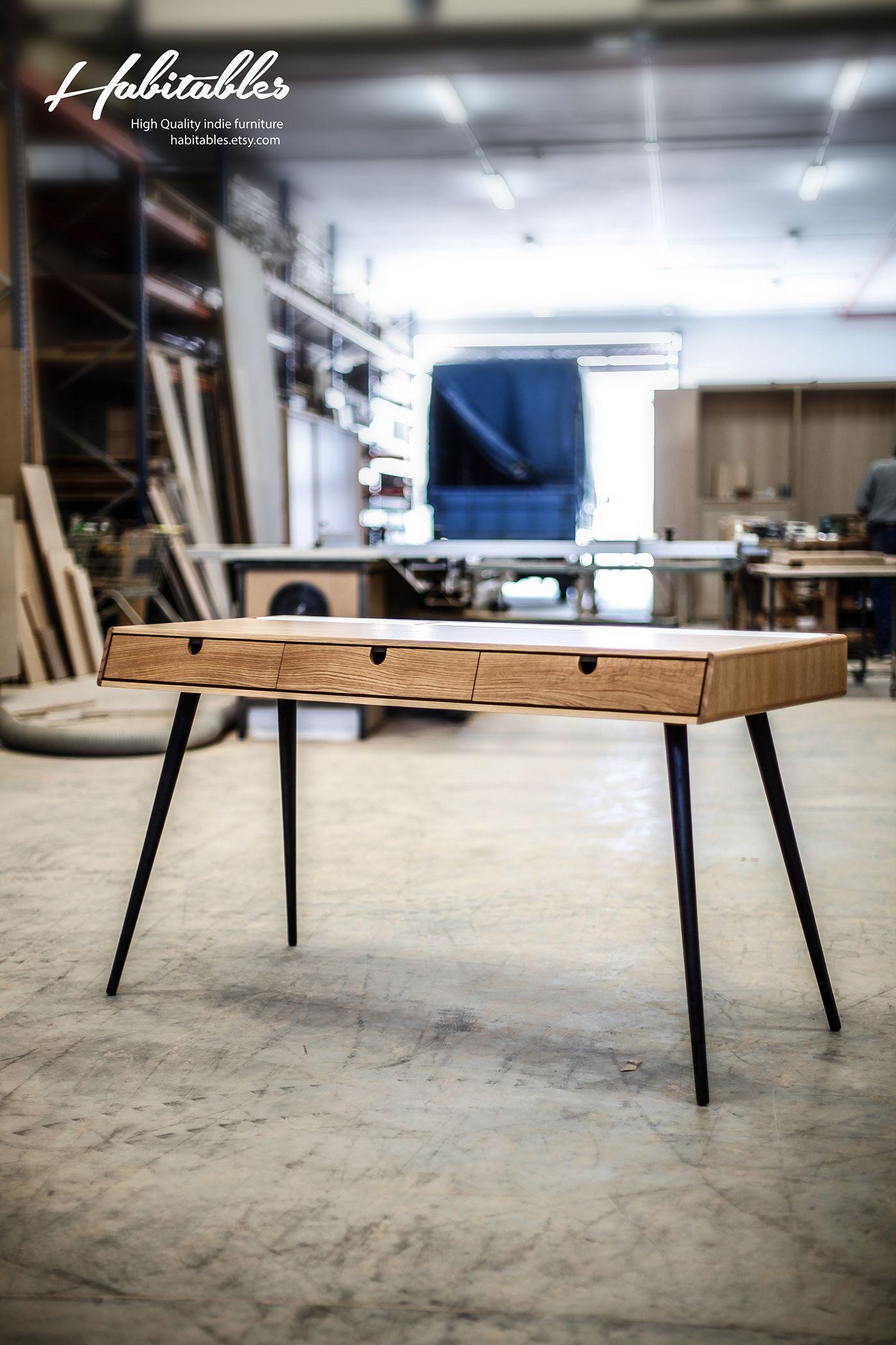 Desk ,bureau, escritorio in oak wood 140 cm on Behance