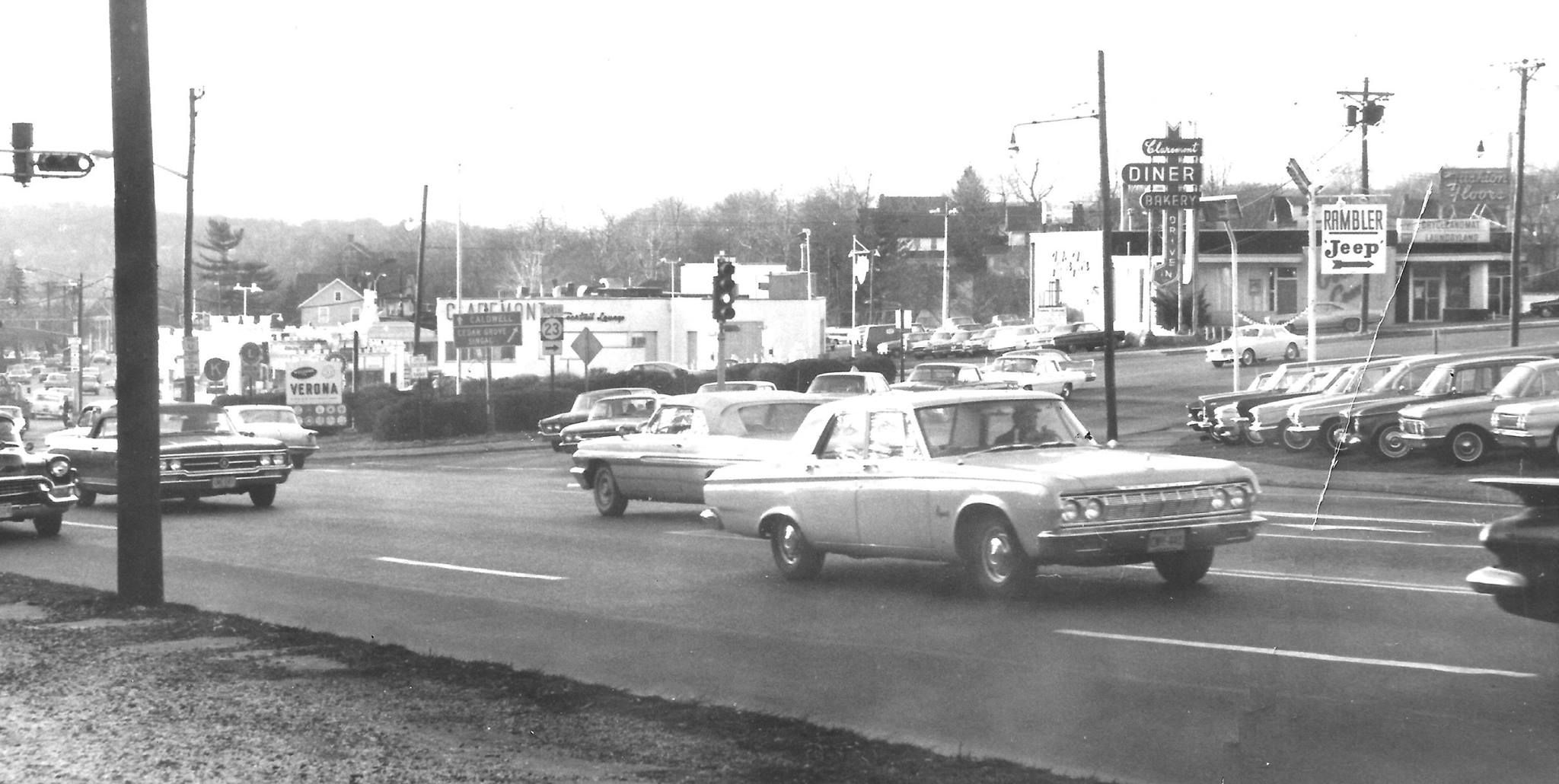 Bloomfield Ave and Route 23 in Verona NJ 1965 Photo