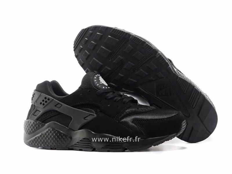 new styles c7c38 b3af1 Nike Air Huarache Tout noir - Chaussure Pour Homme Triple Nike Huarache  Noir Homme