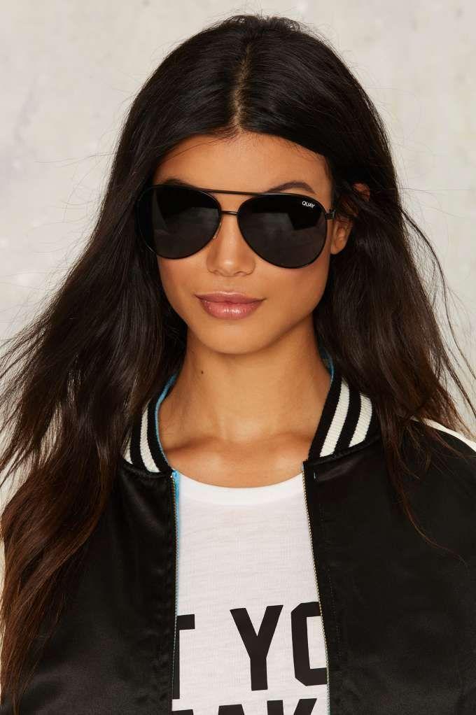 eb914c4ff7d Quay Vivienne Aviator Shades - Black - Sunglasses
