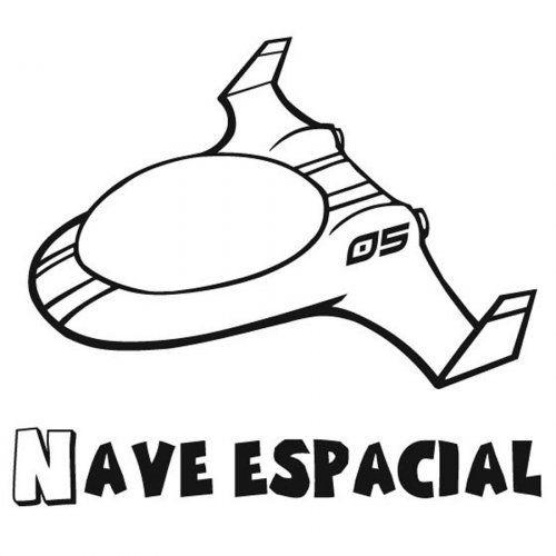 Dibujo Para Pintar De Una Nave Espacial Dibujos Para Colorear Nave Espacial Universo Dibujo