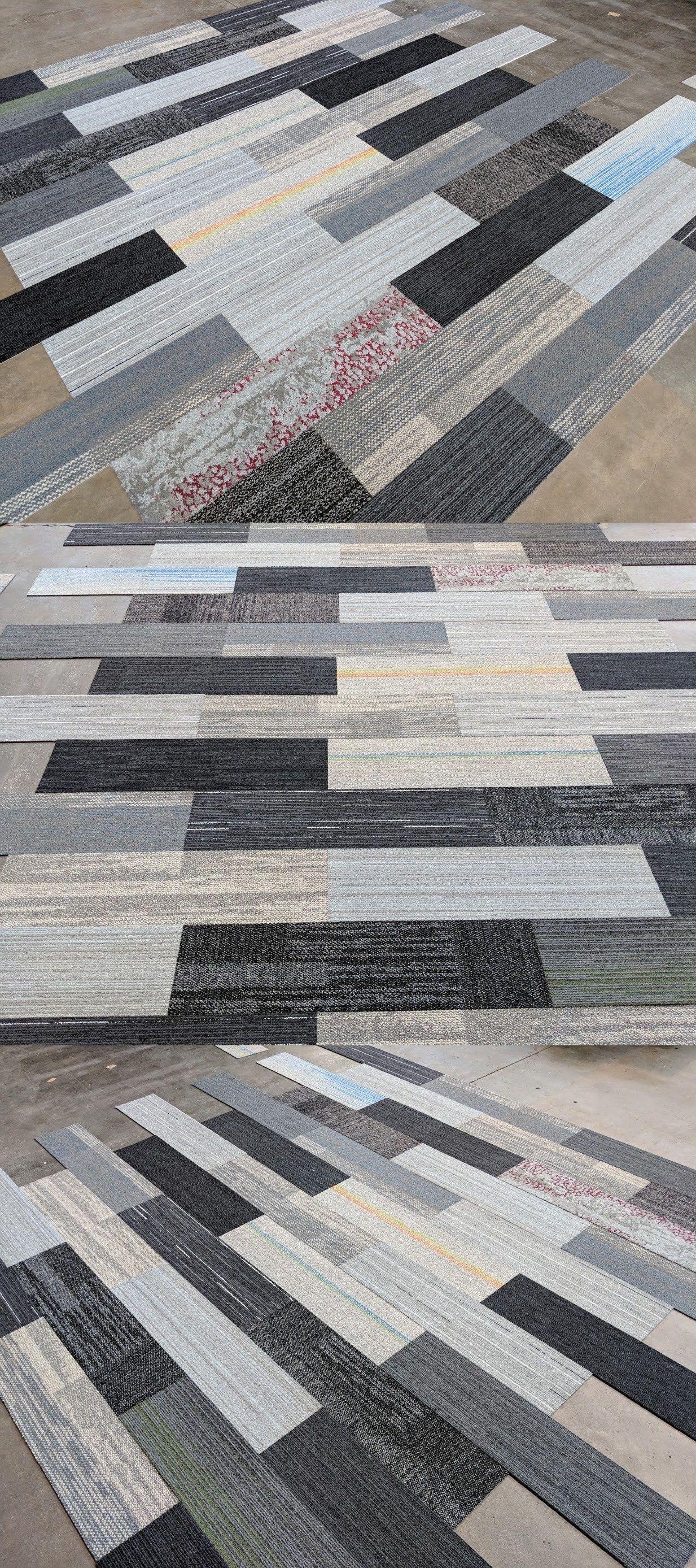 Carpet Tiles 136820 Biscuit S Odd Lot Plank Carpet Tiles Gray