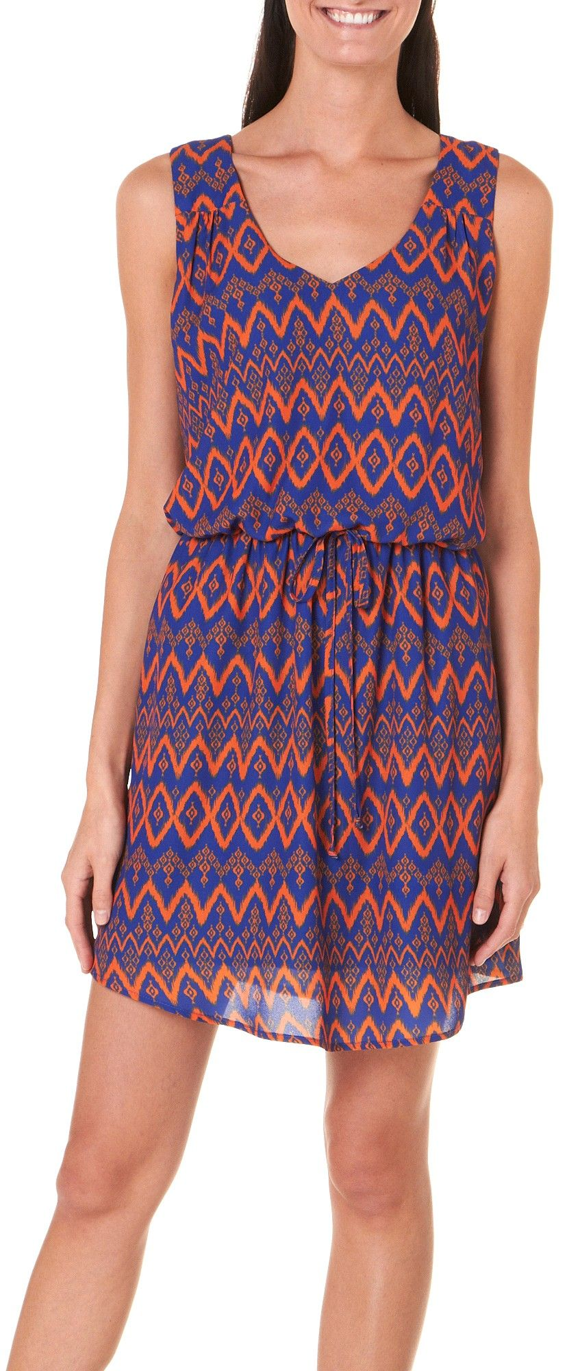 Florida Gators Orange Blue Chevron Print Dress #BeallsFlorida ...
