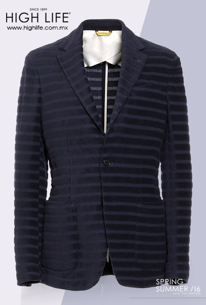 Porta rayas horizontales que añadan una capa de dinamismo y hagan un efecto de textura en un saco de vestir. #Canali