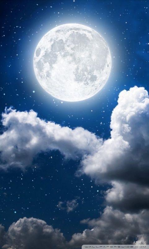 Moon Clouds Dark Skya Hd Desktop Wallpaper Widescreen High