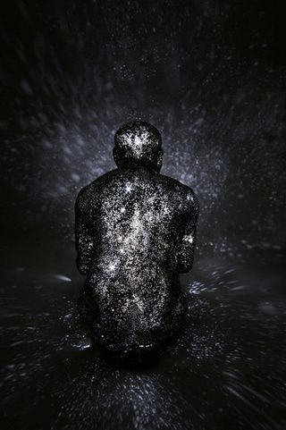 Mihoko Ogaki's sculpture installations are a poetic interpretation of Carl Sagan's assertion that we're all made of star stuff. She sculpts dead and dying figures that beam pinpoints of light from the inside, turning them into the origins of glorious galaxies at the moment of death.