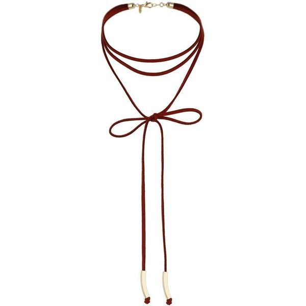 Miss Selfridge Bow Wrap Choker (47.510 COP) ❤ liked on Polyvore featuring jewelry, necklaces, accessories, choker, burgundy, wrap jewelry, bow choker, miss selfridge, choker jewelry and bow jewelry