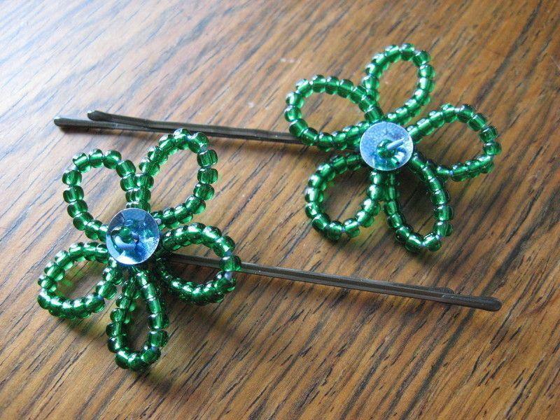 Beaded flowers beaded flowers diy hair accessories