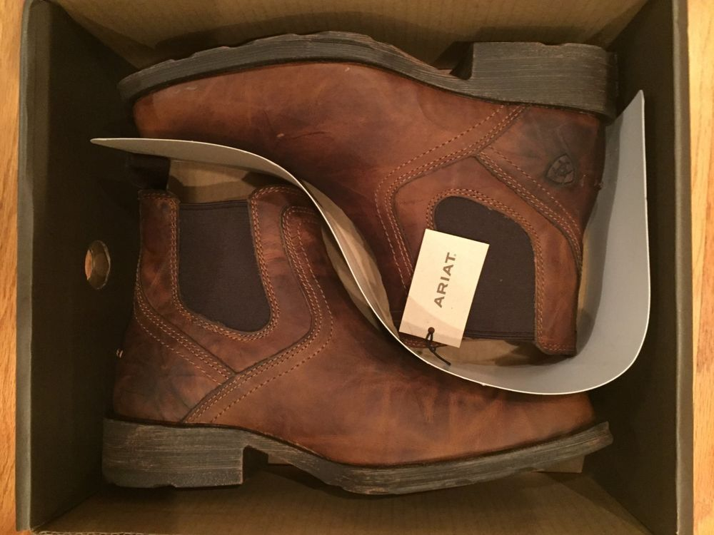 79fc7894c2e06 Ariat Men's Midtown Rambler Barn Square Toe Chelsea Boots 10019868 #fashion  #clothing #shoes #accessories #mensshoes #boots (ebay link)