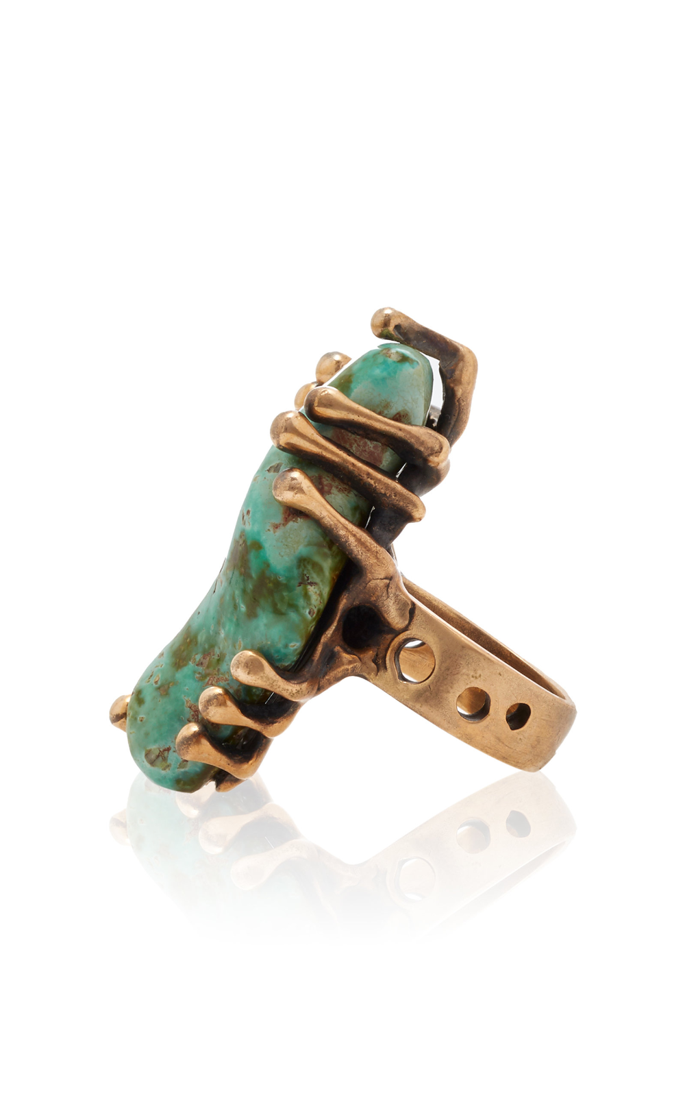 One of a Kind Kingman Turquoise Imperial Ring