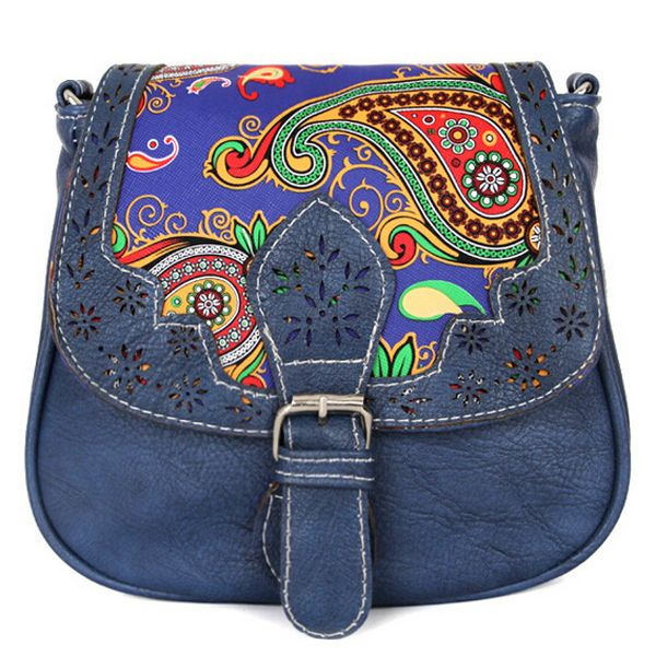 Womens Retro Crossbody Messenger Hollow Flower Small Shoulder Bag Purse Handbag £7.50-£8.00