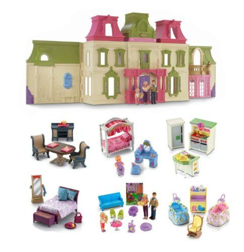 Charming Fisher Price Loving Family Dream Mega Set Dollhouse W/ Dolls U0026 Furniture  For Only $149.99
