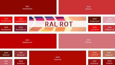 Rottöne Farbpalette ral rot ral rottöne ral farbtabelle farbe rot rot farbpalette