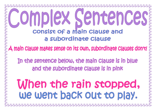 Complex compound sentences yahoo dating