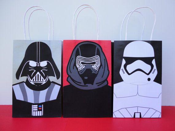 DIY Star Wars Party Favor bags/ Birthday by CreativePartyStudio