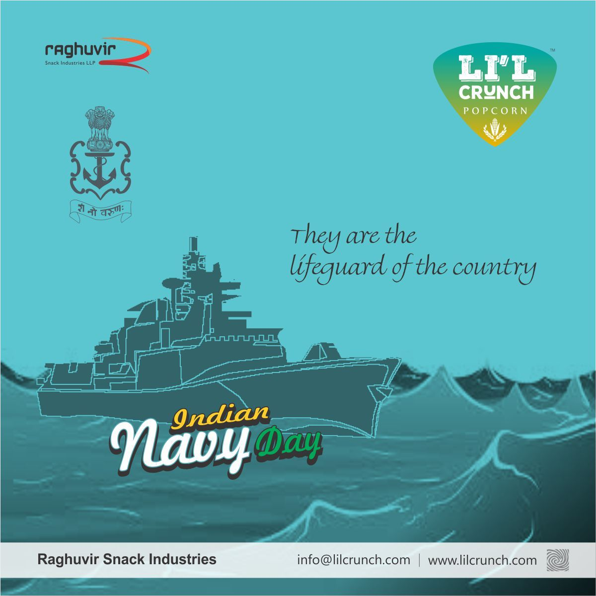 They Are The Lifeguard Of The Country Indian Navy Day Lil Crunch Lilcrunch Popcorn Indian Navy Day Indian Navy Day Navy Day Indian Navy
