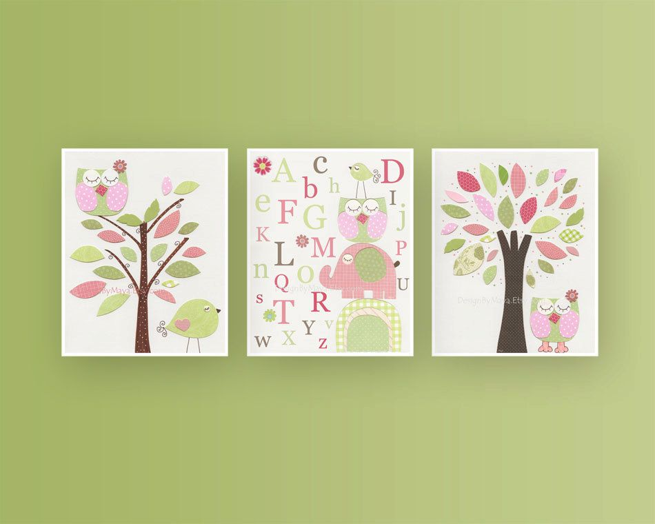 Nursery Wall Decor Ideas nursery decor baby girl room nursery wall art print for girls baby