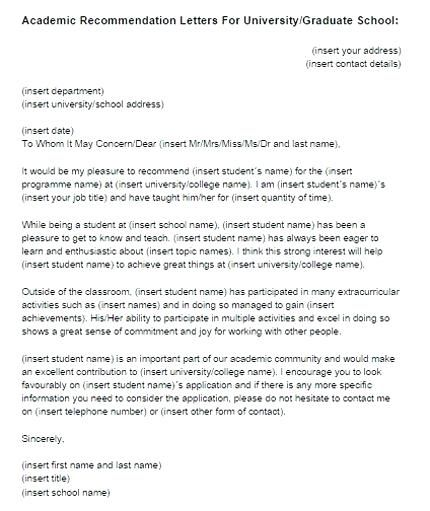 graduate school letter of recommendation letters of recommendation - college recommendation letters