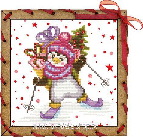 Спешу поздравить! Вышивка/ Embroidery. Набор для вышивки открытки крестиком и бисером Новой Слободы. Основой для вышивки в этом наборе является перфостич. Все необходимое входит в набор. Вышивается очень быстро, получаете великолепный результат.