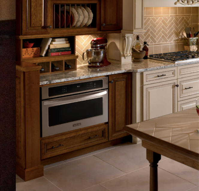 Kitchen Aid Cabinets: KitchenAid Microwave In A Base Cabinet.