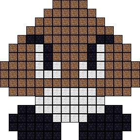 Goomba pinterest pixel art templates creepers and template pixel art templates how to make custom templates mushroom done maxwellsz