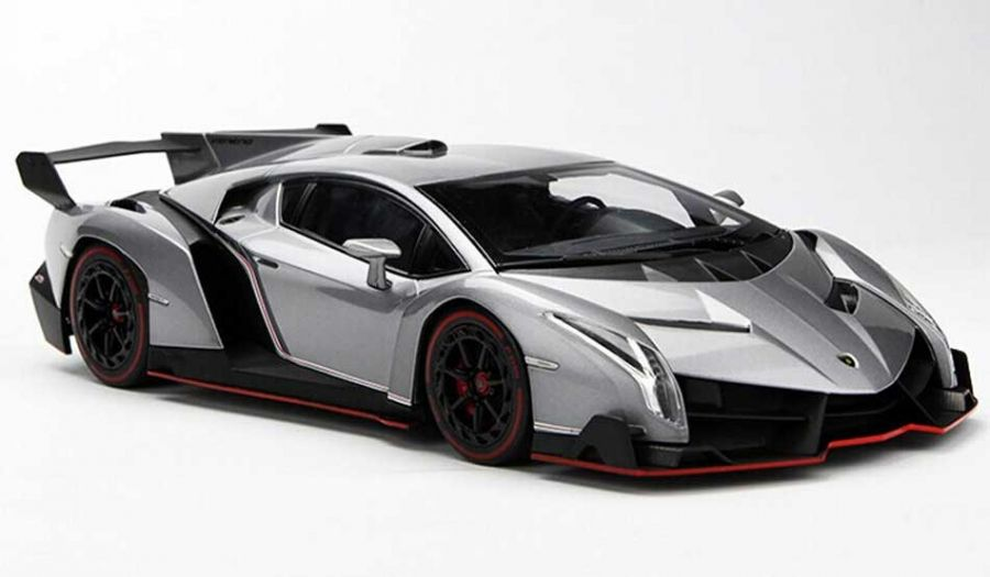 1 18th lamborghini veneno grey dm6808 trains planes automobiles
