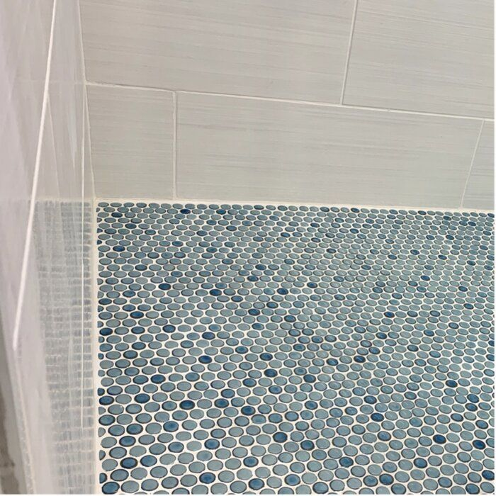 porcelain penny round mosaic wall