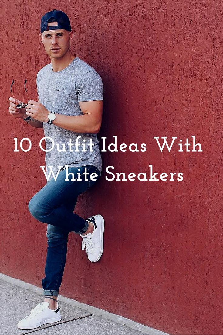 Sneakers outfit men, White sneakers men