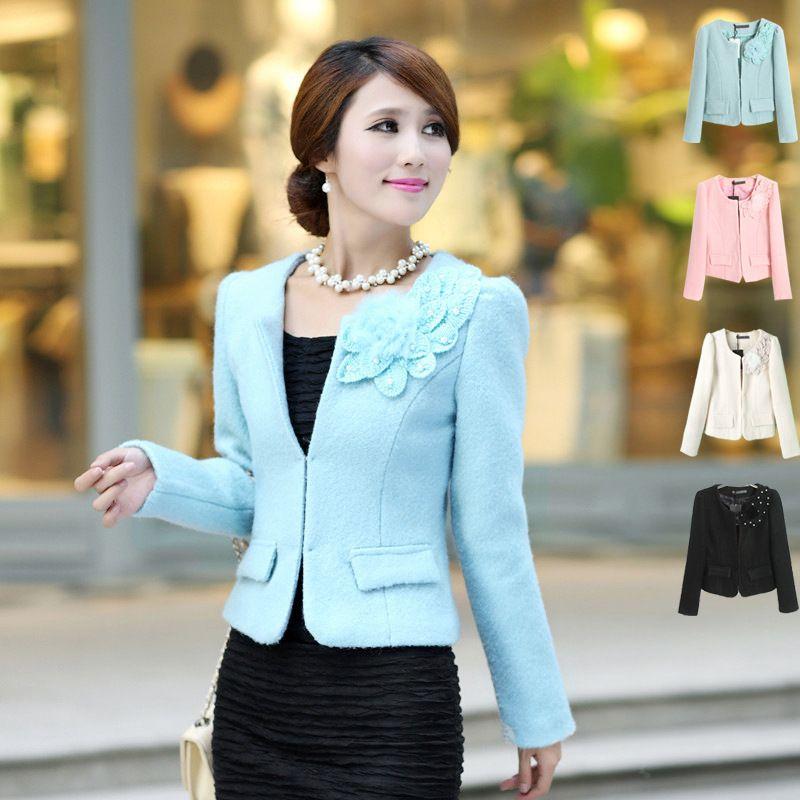Women\'s autumn women\'s short design elegant outerwear wool tweed ...