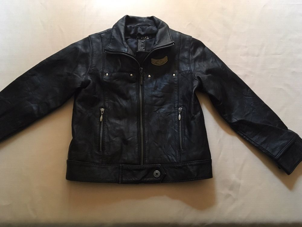 Unisex Boys Girls Dkny Toddler 12 24 Months Black Leather Jacket Nwot Fashion Clothing Shoes Accessorie Unisex Clothing Leather Jacket Black Leather Jacket