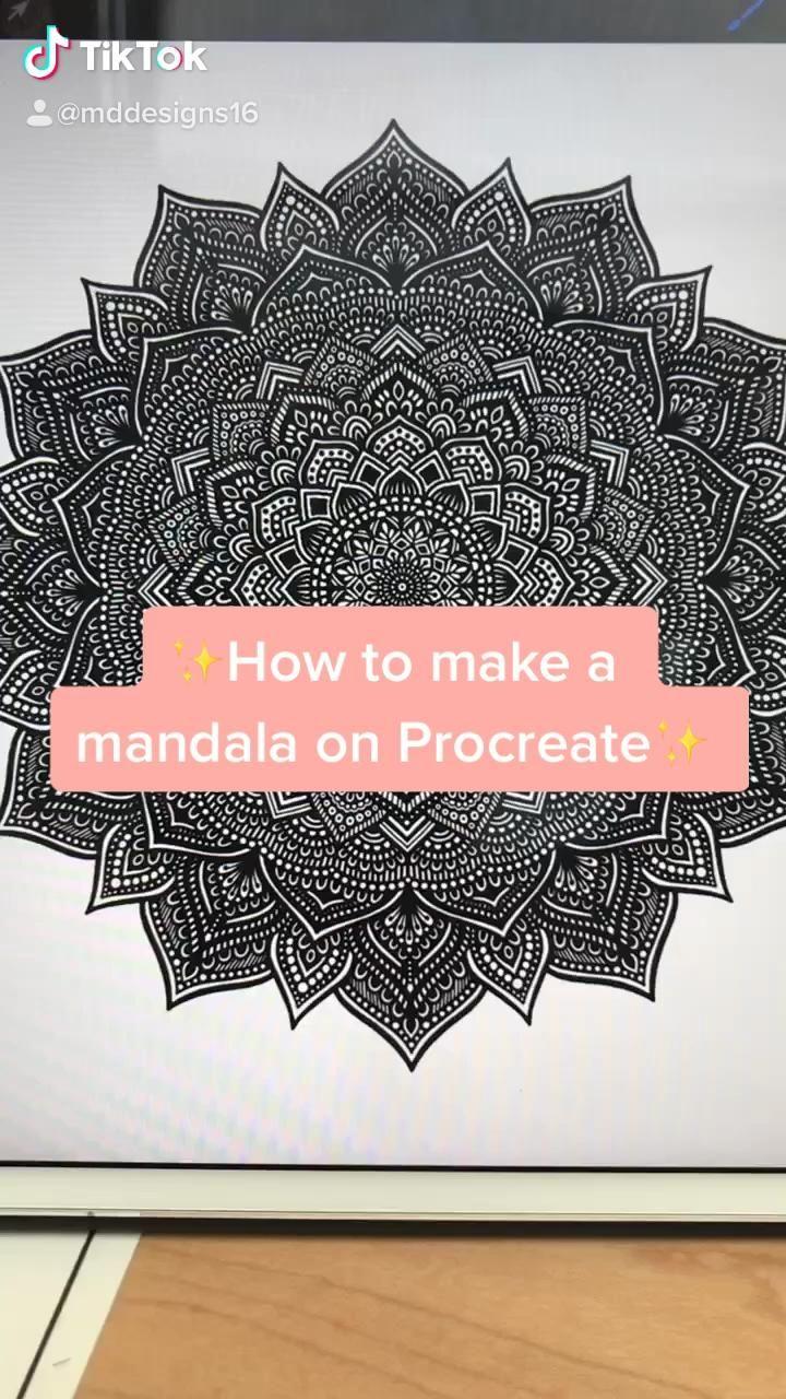 Photo of Tutorial: Make mandalas on procreate!